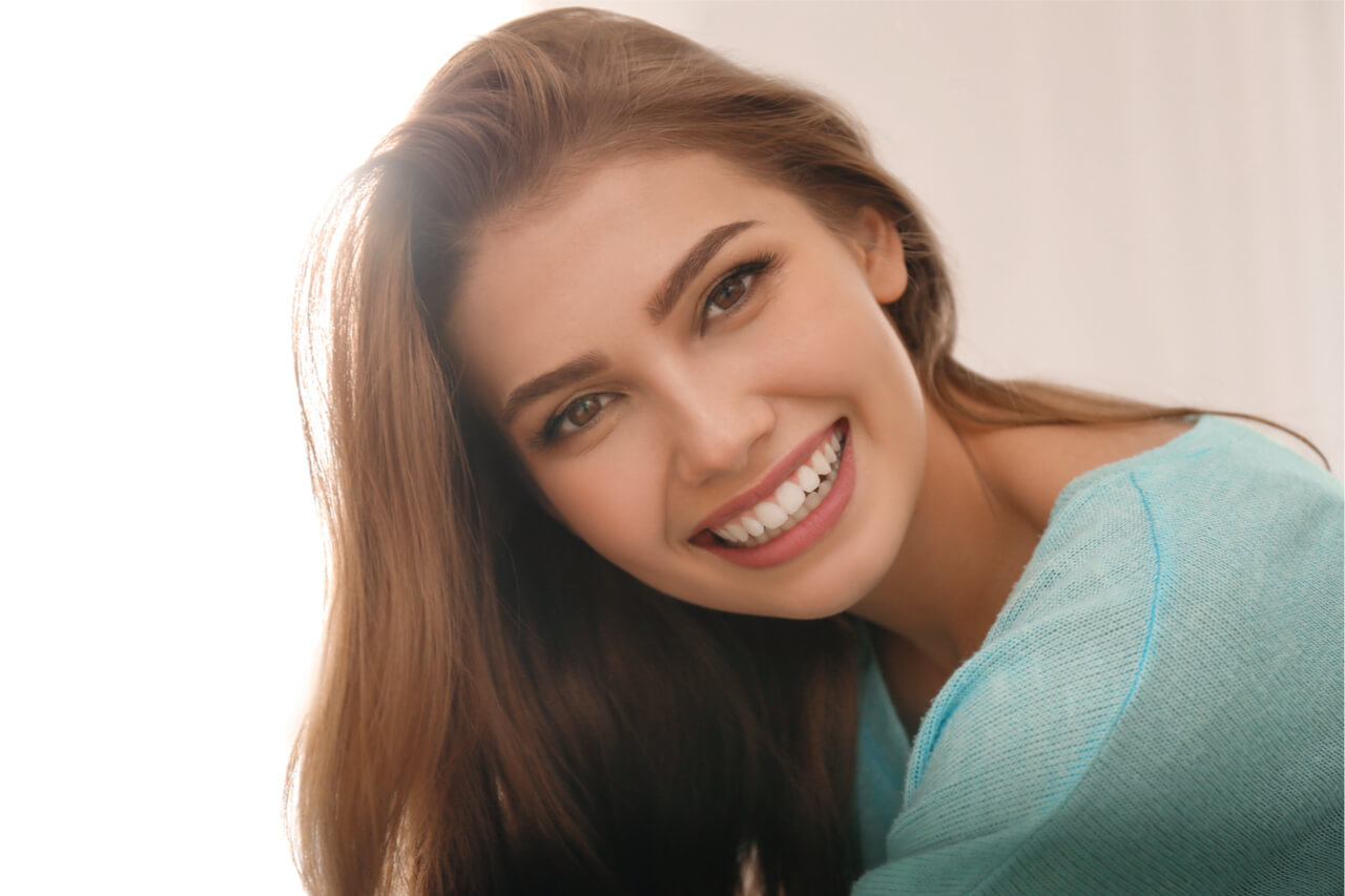 woman with Beautiful Teeth